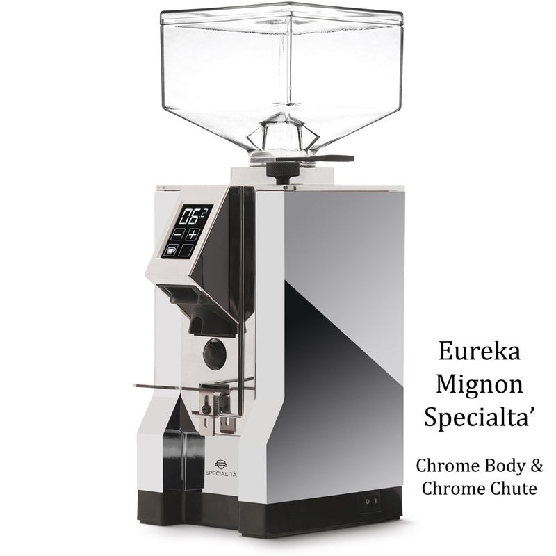 Eureka Mignon Specialita - Chrome Body & Black Chute