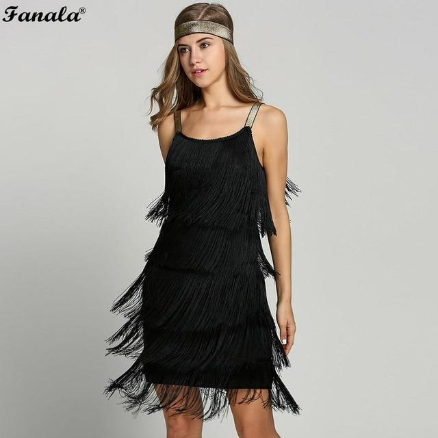 2018 Straps Summer Gatsby Women S Size Clothes Glam Women Costume Long  Clothing Party Tassels Flapper Beach 684c8374a7f1
