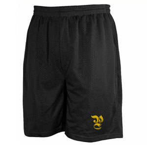 Black & Yellow Gold Basketball Shorts