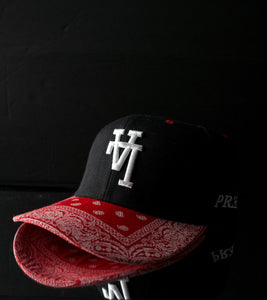 Paisley Snapback - Red & Black