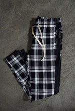 Load image into Gallery viewer, Plaid Track Pants - Black