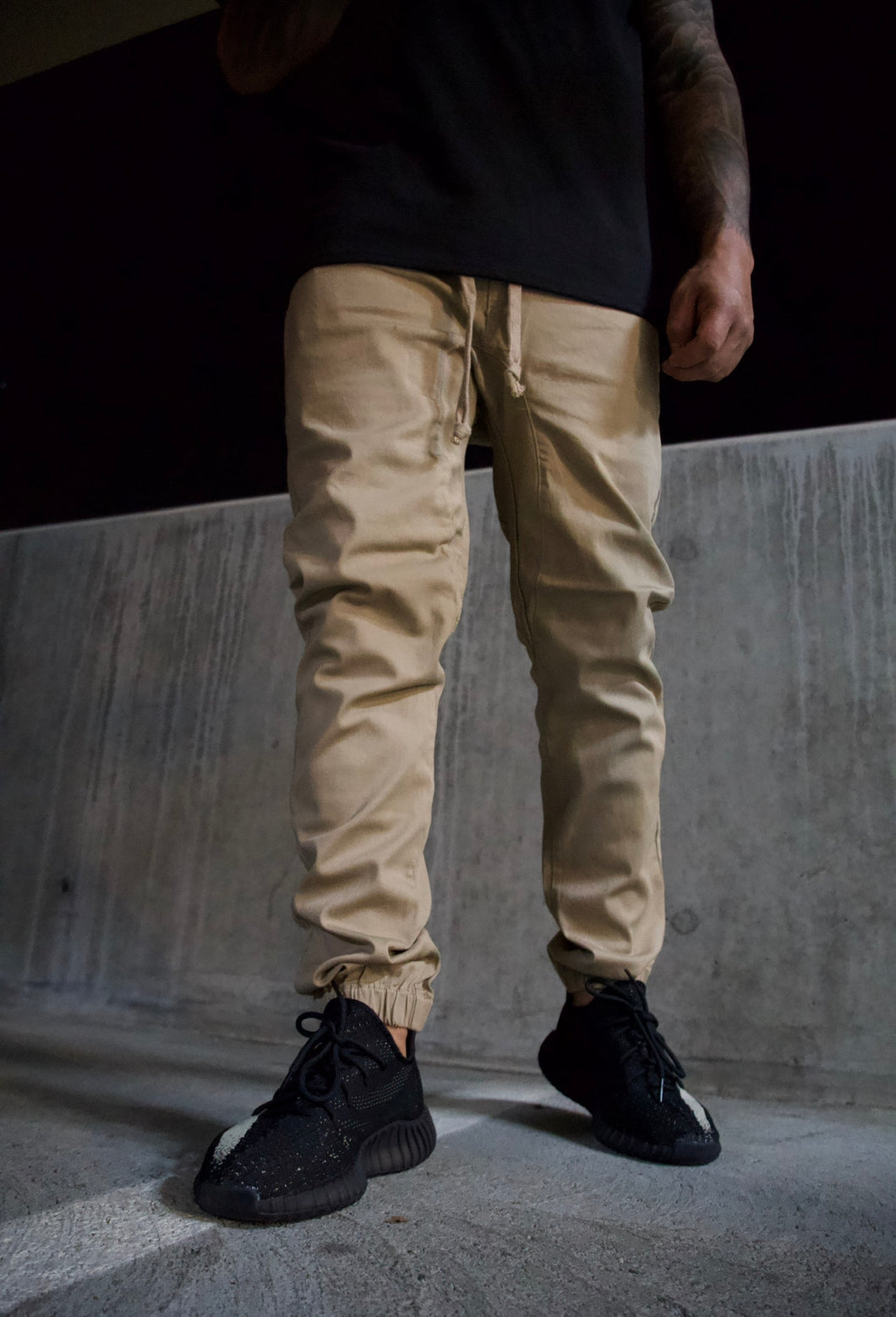 Men's Essential Joggers [ khaki ]
