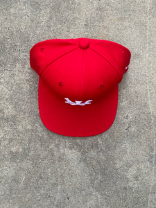 Prevail x New York Snapback ( Red)