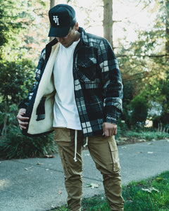 Cozy Sherpa- Lined Plaid Jacket