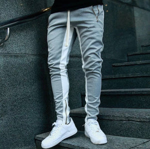 Single Stripe Joggers ( Grey )