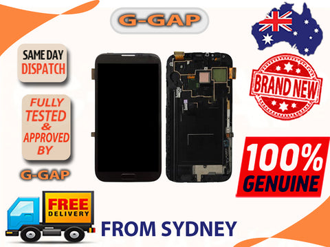 Samsung Galaxy Note 2 N7100 LCD Digitizer Touch Panel With Bazel Frame