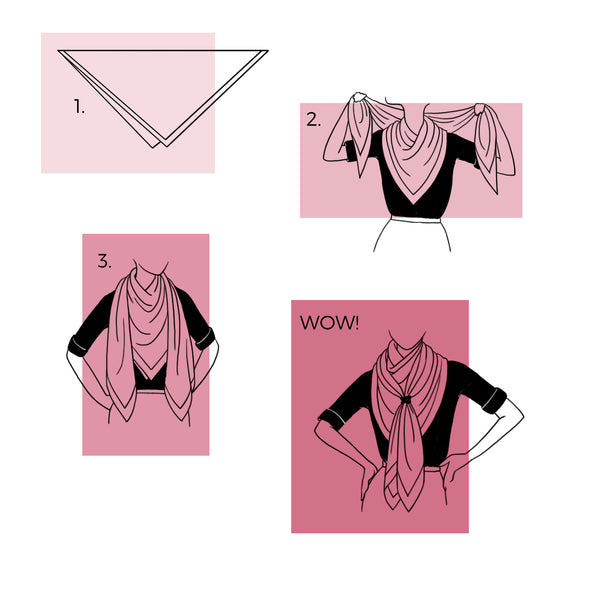 How to Tie a Silk Scarf: Knotted From Drape | THERESA DELGADO