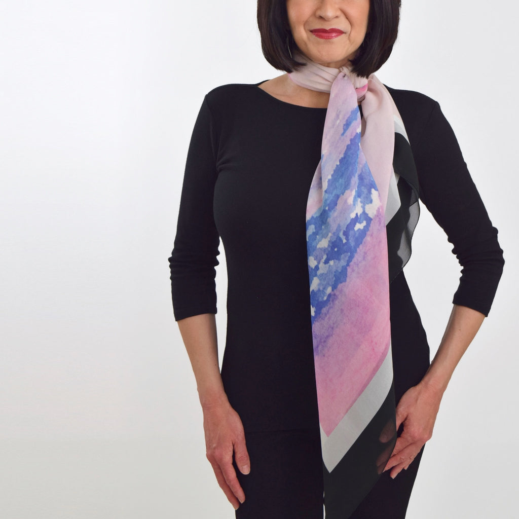 How to Tie a Scarf: Asymmetrical Side Knot