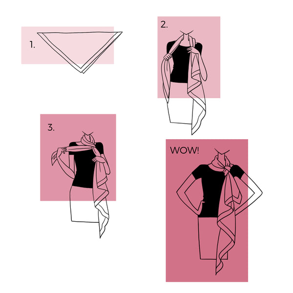 How to Wear Large Scarf | How to Tie a Scarf