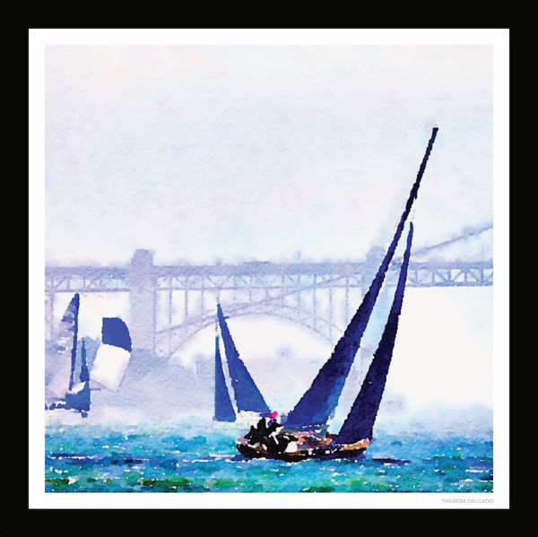 The Sail Boats Scarf | Bring California Home Scarf Collection