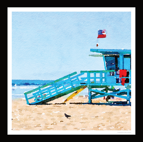 The Lifeguard Tower Scarf No. 1 | Bring California Home Scarf Collection