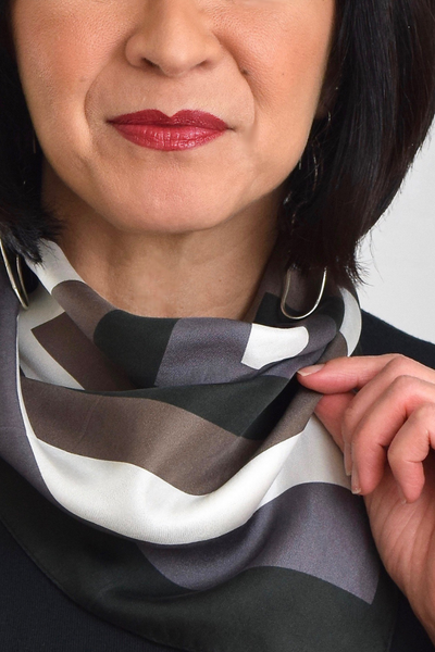 Classic Neckerchief Scarf | Noir Blanc Collection