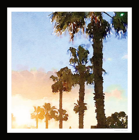 The Palms Scarf No. 1 | Bring California Home Scarf Collection