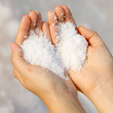 Dead Sea Salt Minerals in Hands