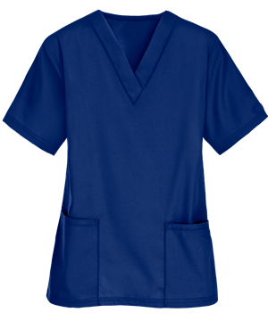 Scrubs UK Premium Unisex Medical Scrubs Suit Set of Tunic and Trousers - Galaxy Blue