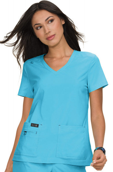 Koi Basics - Women's Scrub Tunic (Becca or Katie) -Electric Blue