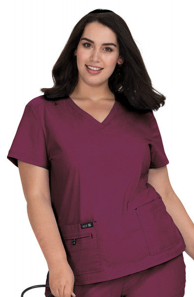 Koi Basics - Women's Scrub Tunic (Becca or Katie) - Wine