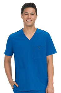 Koi Basics - Men's Scrub Top (Bryan) - Royal