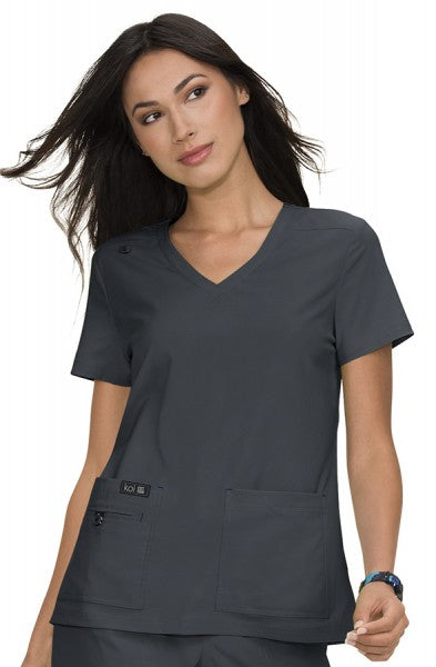 Koi Basics - Women's Scrub Tunic (Becca or Katie) - Charcoal Grey