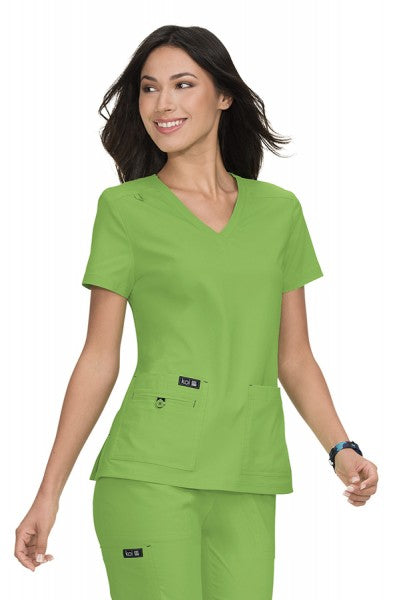 Koi Basics - Women's Scrub Tunic (Becca or Katie) - Green Tea