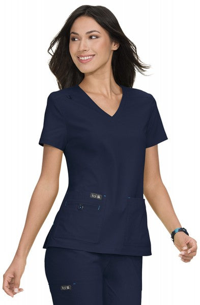 Koi Basics - Women's Scrub Tunic (Becca or Katie) - Navy