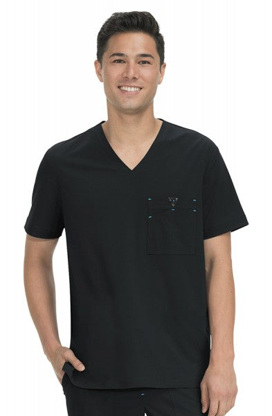 Koi Basics - Men's Scrub Top (Bryan) - Black