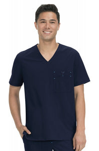 Koi Basics - Men's Scrub Top (Bryan) -Navy