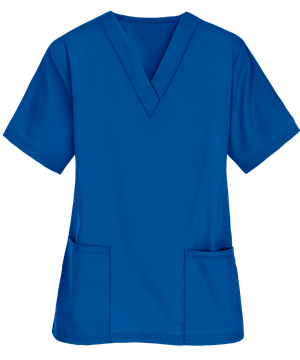 Scrubs UK Premium Unisex Medical Scrubs Suit Set of Tunic and Trousers - Royal Blue