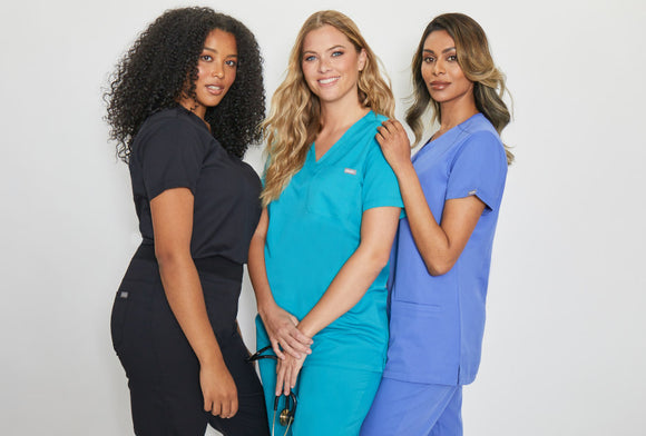 SIMKI Nova One Pocket Ladies 4 Way Stretch Scrub Top