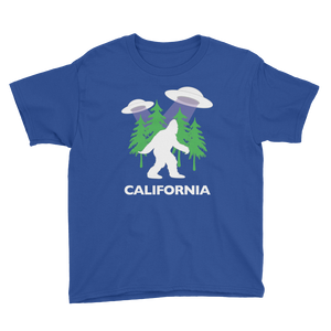 OFC Cryptids Collection | Bigfoot Sasquatch UFO California | Youth T-Shirt Short-Sleeve Unisex