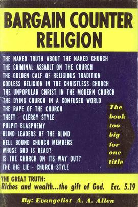 Bargain Counter Religion - A. A. Allen - eBook