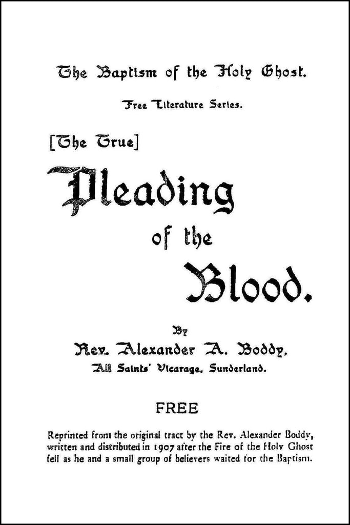 Pleading the Blood - Alexander Boddy - ebook