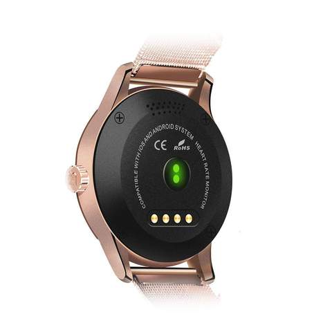 SMART WATCH PEDOMETER HEART RATE MONITOR CALL/SMS K88H ROSE GOLD
