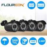FLOUREON 1080P 2.0MP 3000TVL PAL Waterproof Outdoor CCTV DVR Security Camera Night Vision Cam
