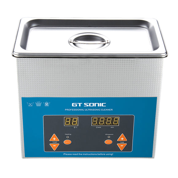 GT SONIC 3L Ultrasonic Cleaner Heated with Adjustable Timer Ultrasonic Jewelry Cleaner Machine for Jewellery Rings Watches Eyeglasses Dentures Coins Metal Parts Lab Tools and More