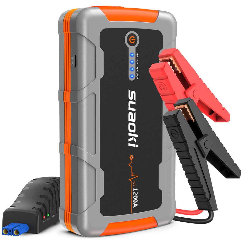 Suaoki E92 1200A 15000mAh Car Jump Starter Battery Booster Rescue Pack Charger