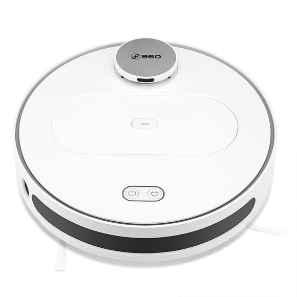 360 S6 Robot Vacuum Cleaner Vacuum Wet Mop Navigation Planned Cleaning large Dustbin Water Tank Schedule disinfection