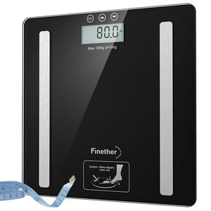 Finether digital body fat analyser scales healthy LCD weighing scale weight loss