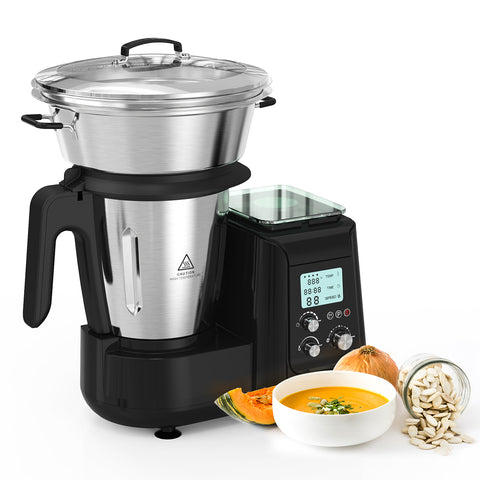 MLITER 1000W Soup Maker From Start To Finish with Blender, Steamer and Electronic Scale