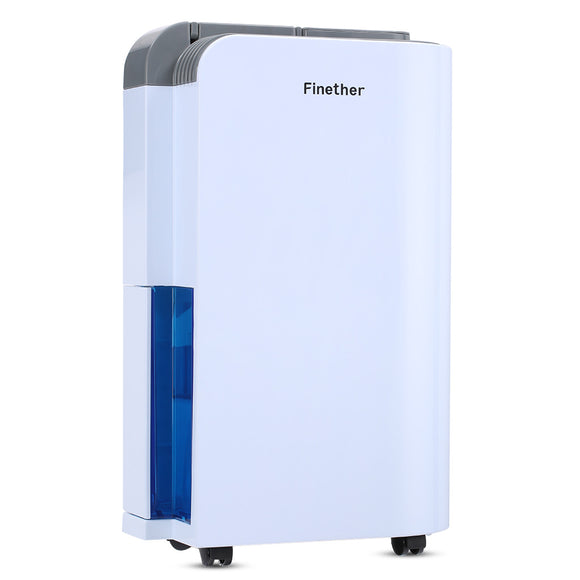 Finether Dehumidifier 12L/D Home Air Dehumidifier 24h Timer LED Digital Display Child Lock Auto Defrost