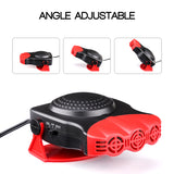 12V Car Heater Windshield De-Icers 2 in 1 150W Fast Heating & Cooling Cars Defogger Plug in Cigarette Lighter