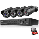 FLOUREON CCTV Security Camera Systems 1TB HDD 8 Channel 1080N AHD DVR Kit and 4 1080P 3000TVL Outdoor Cameras