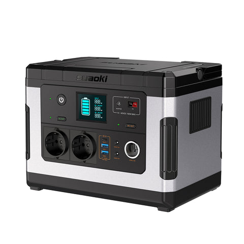Suaoki G500 Portable Power Station 500Wh Rechargeable Solar Generator with 300W Pure Sine Wave AC for Camping Outdoors