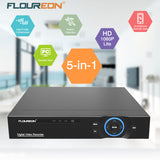FLOUREON 4CH/16CH 5-in-1 HD-AHD 1080N Digital Video Recorder for CCTV Security System Support Easy Remote View (No Hard Drive) UK
