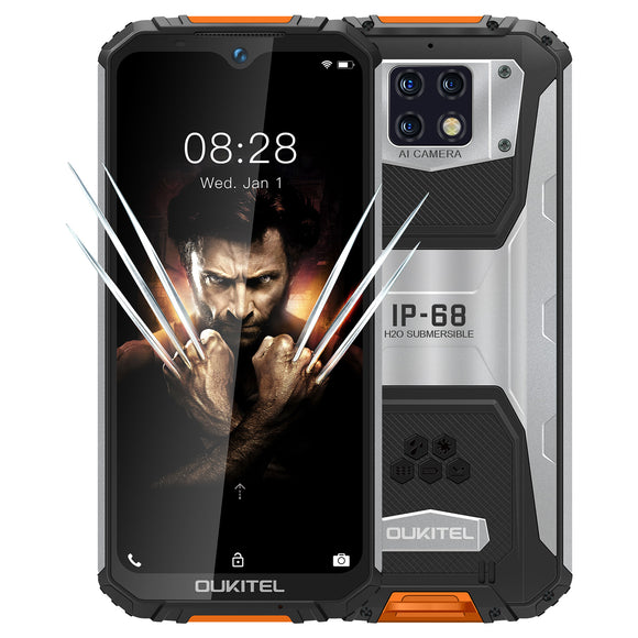 OUKITEL WP6 48MP+ 5MP+0.3MP Rear Camera 16MP Front Camera Phone 6.3 inch 4G Smartphone Original Global Version with Android 9.0 6GB RAM 128GB ROM IP68 Waterproof