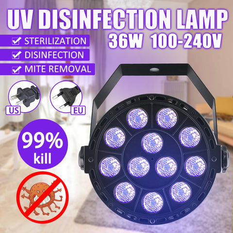 36W Medical Disinfection UV Lamp Home Room LED Ultraviolet Sterilizing Light Hot