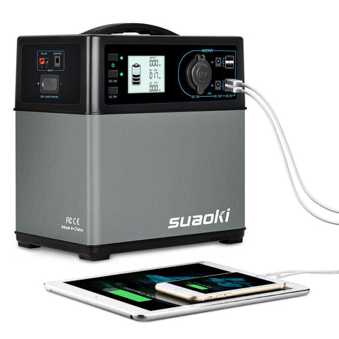 Suaoki PS5B 400Wh Portable Power Station, Solar Power Generator, Pure Sine Wave AC Inverter