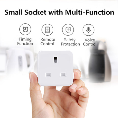 Ziglint SWA9 WiFi Smart Plug with Timer Function, Works with Alexa Google Assistant - UK Plug