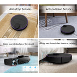 360 S6 Robot Vacuum Cleaner 1800Pa Suction Mopping Sweeping Mode APP Remote Control LDS Lidar SLAM Algorithm - Black