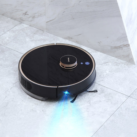 Lenovo X1 LDS Lidar Laser Navigation 3000mAh Robot Vacuum Cleaner 55dB Low Noise 2200Pa Suction 585ml Dust Box